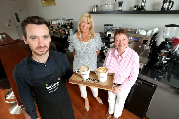 Alison Clarke and Bailies Coffee Roasters launch local charity's campaign